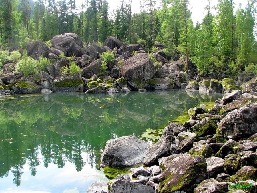 Телецкое озеро- каменный алив_м